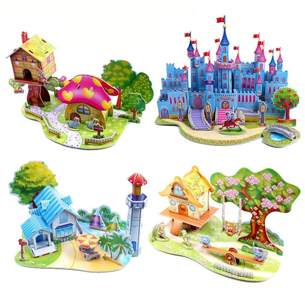 3D Jigsaw Puzzles Kids Construction